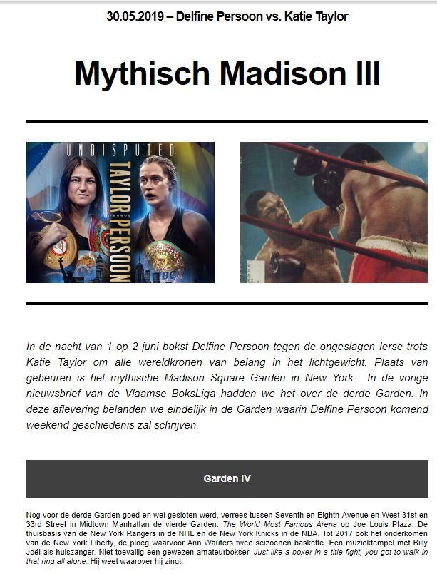 VBL nieuwsbrief 8ste publicatie Mythisch Madison III