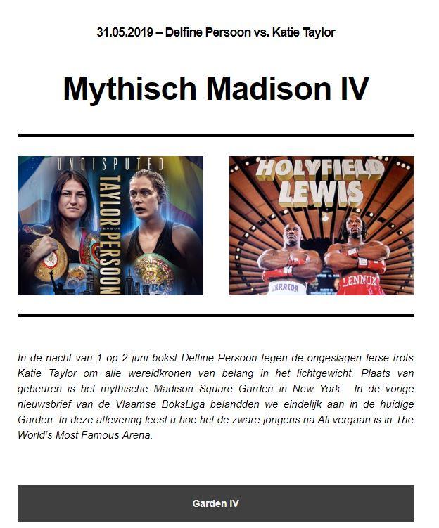 Nieuwsbrief VBL 9de publicatie Mythische Madison