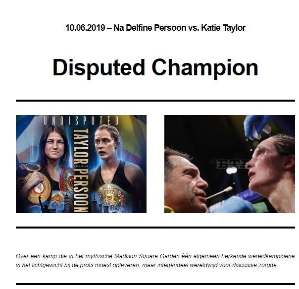 VBL Nieuwsbrief seizoen 2019- 11e publicatie- Disputed Champion