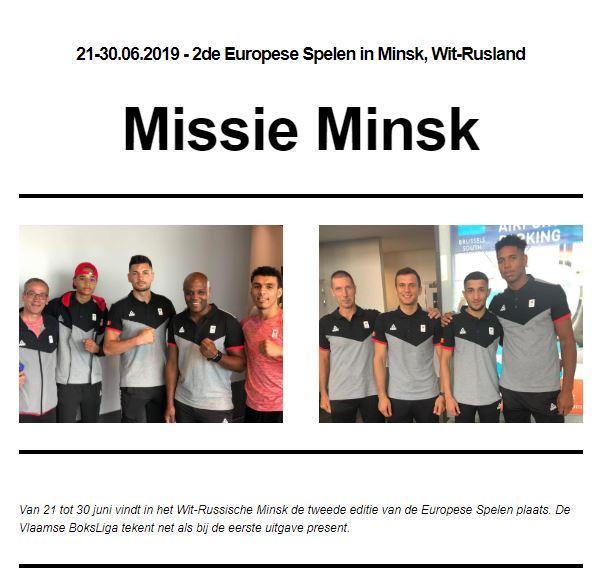 Nieuwsbrief 13de publicatie Missie Minsk