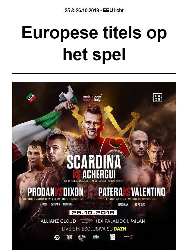Nieuwsbrief Europese titels op spel