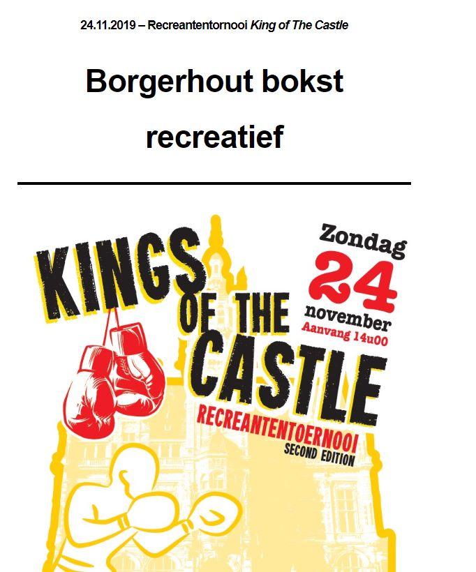 VBL-nieuwsbrief: Borgerhout bokst recreatief-25ste publicatie seizoen 2019